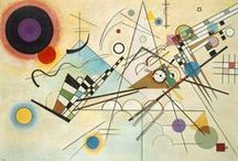 Bauhaus - Wassily Kandinsky (1866-1944) / Kandinsky was an influential Russian painter & art theorist, credited with painting the 1st purely abstract works. His creation of abstract work followed a long period of development and maturation of intense thought based on his artistic experiences. In the early 1900, he was a member of the Blue Rider. He taught at the Bauhaus school of art and architecture from 1922 until the Nazis closed it in 1933. This Board focuses on his abstract art, after the Blue Rider.