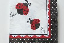 I Love Ladybugs! / Hand Painted Ladybug Glassware