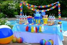 Beach Party Ideas / Can't make it to the beach this summer? No problem! You can bring the beach to your backyard with these party ideas!