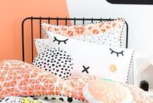 Girls style: Fashion hut / Modern geometric and eclectic pattern for girls rooms.