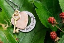 Stamped Rings and Necklaces / Custom stamped rings with any word, name, or saying! Inspirational stamped necklaces!