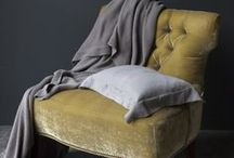 HEPBURN interiors / Yellow and grey interiors - a perfect match for our HEPBURN decorative logs!