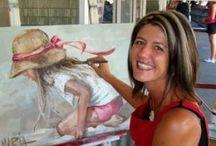MARÍA MAGDALENA OOSTHUIZEN / Pinta retratos figurativos que emanan inocencia y la esperanza de que rinden homenaje tanto a su devoción  a Dios y su creencia en la bondad intrínseca de las personas del mundo. Vive y trabaja en Mossel BAY , en el Sur del Cabo.