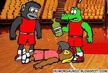 Humor Saurio / ilustraciones y fotomanipulaciones humorísticas sobre la temporada 2016 de la LPB, Liga Profesional de Baloncesto de Venezuela. Apoyando al equipo de la capital COCODRILOS DE CARACAS.