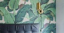 TROPICS - think palm leaves, banana plants, tropical jungle vibes...