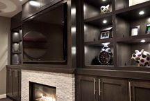 Media & Fireplace