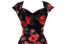 Šaty s květinovým vzorem / Krásné, barevné, šaty v retro stylu á la 50. léta!