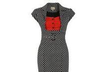 Šaty do zaměstnání / Vintage/retro šaty určené pro denní nošení nebo do zaměstnání.