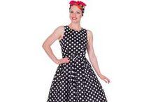 Šaty s puntíky / Vintage/retro šaty s puntíky.