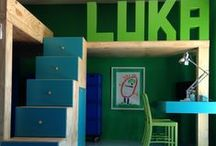 It's a boy called Luka / Bedroom for a boy with a thing for green