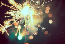 Fireworks / Sparks in the sky that lit up those feelings / by Anna Phan