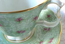 Tea for Two / My granny always had the most beautiful tea cups in her glass show case and I used to love looking at all the dainty cups and saucers and teeny tiny spoons she had