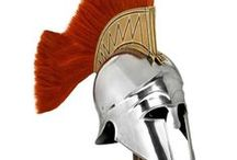 Replica Militaria by Swanky Interiors / These fantastic pieces make superb and memorable gifts for military and history enthusiasts. We stock a wide range of helmets and armour that faithfully recreate a bygone age. Decorative Full Suit of Armor, Fleur De Lis Suits of Armour, Viking Helmets, Saxon Helmets, Troy Helmets, Roman Centurion Helmets.