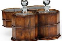 Gifts For Him / Gifts for your husband and father, Decanters in Walnut Case, Valet Stands, replica helmets, decorative full suit of armor, card tables, decorative walnut boxes.