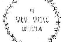 The Sarah Spring Collection / Love this!