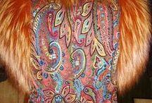 Текстильная живопись-Textile painting Handmade by Alyona Knyazeva / Декорирование одежды. Вышивка, плетение, роспись, аппликация, меховой трикотаж Garment decoration. Embroidery, weaving, painting, appliqué, fur knitwear