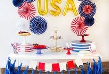 4th of July & Patriotic Party Ideas / We love the 4th of July! Find inspiration for your next 4th of July party using one of these fun ideas including cakes, decorations, games, party foods and favors. See more party & DIY ideas at PartyographyByAlli.com!