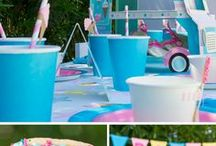 Ice Cream Party Ideas / We love Ice Cream! Find inspiration for your next Ice Cream party using one of these fun ideas including cakes, decorations, party foods and favors. See more party & DIY ideas at PartyographyByAlli.com!