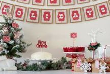 Christmas Party Ideas / We love Christmas! Find inspiration for your next Christmas party using one of these fun ideas including cakes, decorations, party foods and favors. See more party & DIY ideas at PartyographyByAlli.com!