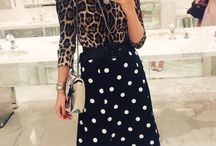 Mix of prints outfits