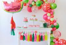 Tutti Frutti Party Ideas / Find inspiration for your next tutti frutti birthday party using one of these fun ideas including cakes, decorations, party foods and favors. See more party & DIY ideas at PartyographyByAlli.com!