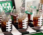 Football Party Ideas / We love football! Find inspiration for your next football party using one of these fun ideas including cakes, games, decorations, party foods and favors. See more party & DIY ideas at PartyographyByAlli.com!