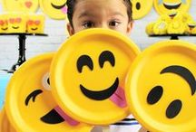 Emoji Party Ideas / We love emojis! Find inspiration for your next emojis birthday party using one of these fun ideas including cakes, decorations, party foods and favors. See more party ideas at PartyographyByAlli.com!