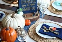Thanksgiving Ideas / We love Thanksgiving! Find inspiration for your next Thanksgiving holiday using one of these fun ideas including desserts, decorations, party foods and favors. See more holiday party ideas at PartyographyByAlli.com!