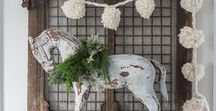 White Christmas / White, silver, and gold winter decor,