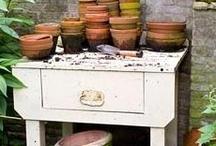 Garden Furniture / #garden #gardenfurniture #pottingbench #outdoordecor