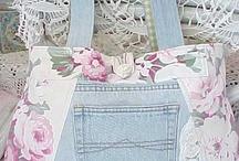 Recycled Jeans / #recycled jeans #upcycled jeans #recycled denim #denim #jeans #denim crafts / by Beuna | Garden Inspire