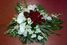 Funeral flowers made by Lindell Flowers