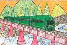 2014年 子ども絵画コンクール 応募作品 / 夏休み特別企画として開催した「子ども絵画コンクール」の応募作品のアーカイブです。