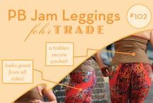Your Makes: #102 PB Jam Leggings by Fehr Trade Patterns / Come & explore the great examples of our #102 'PB Jam Leggings' pattern made by our customers! Be inspired to make your own. Get the pattern here: http://shop.fehrtrade.com/collections/frontpage/products/pb-jam-leggings ----------------- A digital sewing pattern for close-fitting, workout leggings with contrast swirl design, hidden pocket at inside upper centre back, & contrast panels at the back of you knees. An elasticated, high-rise waistband means they won't shift around as you move either!