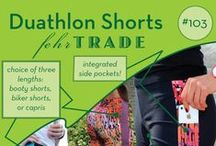 Your Makes: #103 Duathlon Shorts by Fehr Trade Patterns / Come & explore great examples of our #103 'Duathlon Shorts' digital sewing pattern made by our customers! Be inspired to make your own. Get the pattern here: http://shop.fehrtrade.com/collections/frontpage/products/duathlon-shorts ----------------- Close-fitting capris or shorts in 3 lengths with contrast side panels, integrated pocket at each hip, plus optional padding piece for cyclists for extra comfort. An elasticated, high-rise waistband means they won't shift around as you move, either!