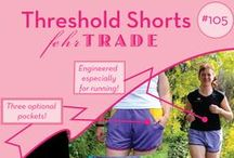 Your Makes: #105 Threshold Shorts by Fehr Trade Patterns / Come & explore great examples of our #105 'Threshold Shorts' digital sewing pattern made by our customers! Be inspired to make your own. Get the pattern at http://shop.fehrtrade.com ----------------- A running short designed for lightweight wovens or mesh fabrics with three optional pockets, curved seamlines, bound hem, and elastic waist. An optional runderwear brief or thong can be attached at the waistband or worn separately.