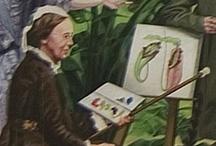 Marianne North, una vida feliz / Marianne North (1830-1890) fue una artista y naturalista británica que pasó su vida recorriendo el mundo para pintar imágenes de flora y paisajes. Aunque iba para cantante, la amistad de su padre con Charles  Darwin le inspiró para dedicarse al naturalismo. Los primeros viajes los realizó con su padre pero, a la muerte de éste, siguió haciéndolo sola. Su obra se muestra en el Real Jardín Botánico de Kew. http://www.kew.org/collections/art-images/marianne-north/index.htm