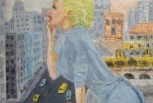 Cuadros al óleo / Cuadros pintados por Pacco, pintor de Barcelona.