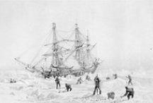 La expedición Franklin / En mayo de 1845 un veterano explorador polar, Sir John Franklin, comenzó una expedición en busca del paso del noroeste de la que nunca regresó. Su tripulación y sus dos barcos, el HMS Erebus y el HMS Terror, desaparecieron para siempre, pero su búsqueda posterior  fue crucial para el desarrollo del conocimiento del ártico. A finales del verano del 2014 aún se producían nuevos y reveladores descubrimientos: http://lalineadelhorizonte.com/blog/descubierto-el-paradero-de-la-expedicion-franklin/