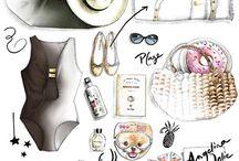 ILLUSTRATION ACCESSOIRE DE MODE FLORENCE GENDRE / Illustrations accessoires de mode: chaussures, sacs, vêtements