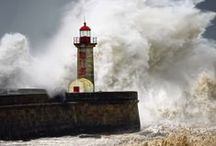 Boats & water / Boats, Lighthouses, Storms, sea