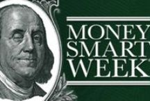 Money Smart Week April 2015 / Interactive Display with information that patron's can carry away. Also used a QR code to link users to more information on the Money Smart Website!