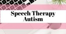 Speech Therapy Autism / Speech therapy ideas and resources to use with children who have autism.  Core vocabulary, joint attention, visuals.