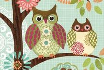 Graphics and illustration_Owls and birds