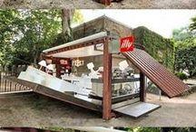 Mobile Food Trucks Bars & Shops / #mobile #food #restaurant #selling #shops #bars #cafe #popup #shop