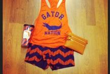 UF Gameday Outfits / Gator girls take their orange and blue gameday outfits VERY seriously! Looking for something to wear to the next UF Gameday? You're sure to find something to inspire your inner Gator Girl Fashionista.