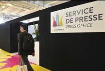 Media areas at the E-commerce Paris 2014 show