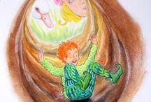 Filipin le lutin / Filipin est un drôle de lutin des bois joyeux et facétieux, un acrobate extraordinaire, un sacré farceur, compagnon de jeu de Fanette. Il connaît bien la forêt et la fait découvrir à la fillette dans un langage à la fois drolatique et poétique : «  Perla-Saperla-PImpin, épi de sarrazin, trou de lapin ! »