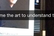 Snapchats w/ Sidney / These are my own geeky art history related snapchats.