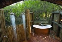 Garden Bath Tubes & Showers / #relax #bath #pools #showers #garden #tubes